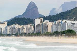 Copacabana beach empty during the coronavirus pandemic photo