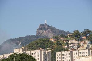 Christ the Redeemer statue seen from the catumbi neighborhood photo