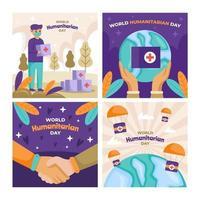 World Humanitarian Card Set vector