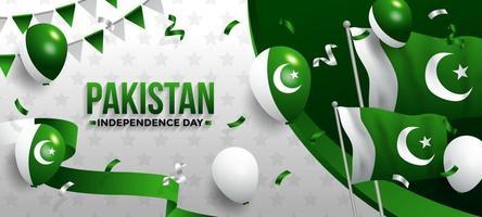 Pakistan Independence Background vector