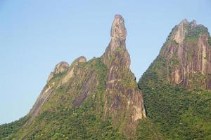 Finger of god mountain located in Teresopolis in Rio de Janeiro, the symbol of Brazilian mountaineering photo