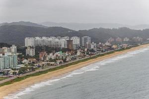 View from top of the hill of the Careca in Balneario Camboriu, Brazil photo
