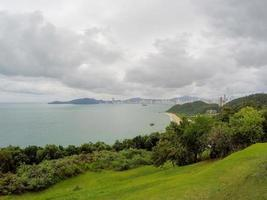 View from top of the hill of the Careca in Balneario Camboriu in Santa Catarina, Brazil photo