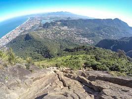 View from the stone of Gavea in Rio de Janeiro, Brazil photo