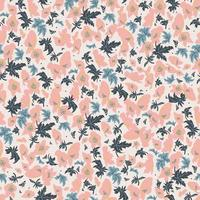 abstract pink flower motif seamless repeat pattern vector