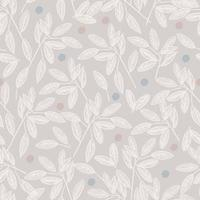 pen and ink drawing leaf and dots illustration seamless repeat pattern vector