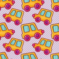 toy car seamless pattern illustration vector