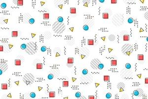 Abstract color geometric pattern design template background. vector