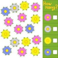 Counting game for preschool children vector