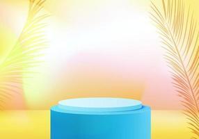 3d display product minimal scene with cosmetic podium render platform vector