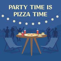 Pizza delivery social media post mockup vector