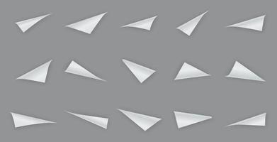 Curled paper corners collection vector