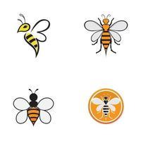 Honey Comb Bee Logo Design Template vector