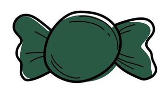 green candy doodle line for halloween vector