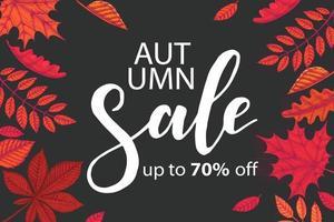 Autumn sale template vector
