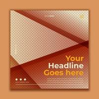 plantilla de banner cuadrado moderno para publicación en redes sociales vector
