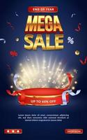 Discount sale promotion poster template vector