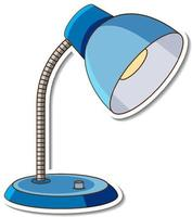 A blue table lamp sticker on white background vector