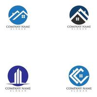 real estate property logo. real estate and mortgage logo template vector
