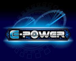 E- Power clean energy logo concept design vector. vector