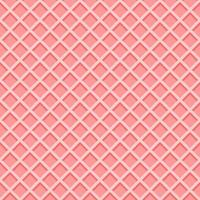 Ice cream waffle cone texture. Pink wafer background vector