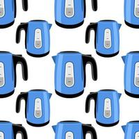 electric kettle seamless vector pattern for print
