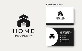 Home Modern Concept Logo Template Isolated in White Background vector