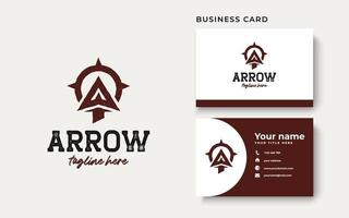 Arrowhead for Archer Archery Outdoor Vintage Hipster Logo Template vector