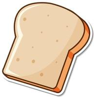 Toasted bread slice cartoon sticker vector