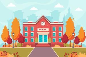 School building. Back to school vector