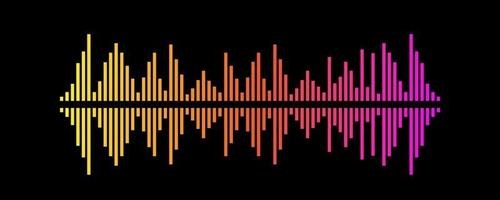 Gradient Vector Illustration Design of Sound Wave Symbol.