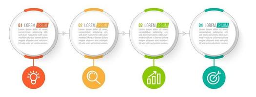 Business Concept with 4 Options or Steps vector