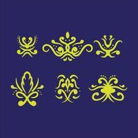 Set ornaments design vector