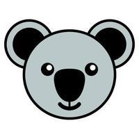 Simple cartoon of a cute koala vector