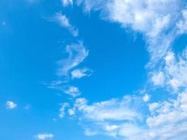 beautiful blue sky and clouds photo