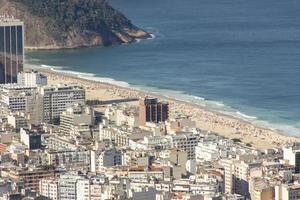 Copacabana beach seen from the top of the Hill of the goats in Rio de Janeiro, Brazil photo