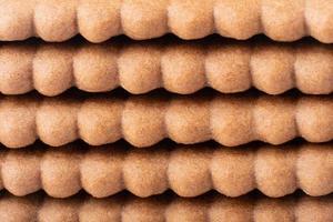 textura de fondo de galleta marrón chocolate foto
