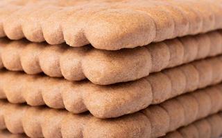 Cocoa cookies closeup stack textured photo