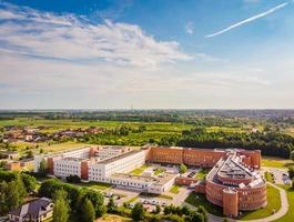 Aerial view Woman and child clinic  in Siauliai city. photo