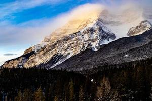 Paliser Range and Lake Minnewanka. Banff National Park, Alberta, Canada photo