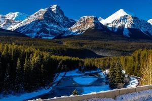 The Bow Range as seen from Morrant's Curve. Banff National Park, Alberta, Canada photo