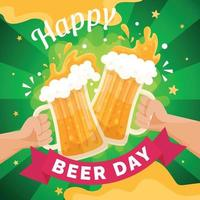 Happy International Beer Day with Toast vector