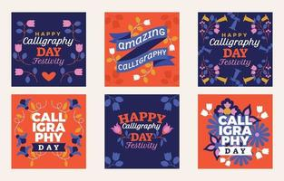 Celebrating Unique Handwriting on Calligraphy Day vector