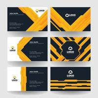 Gold and Black Professional Name Card vector