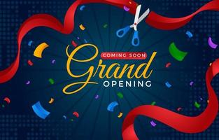 Grand Reopening Background vector