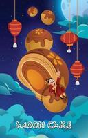 Fantasy Concept of Mooncake Festival vector