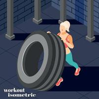 Workout Isometric Composition Vector Illustration