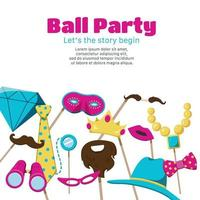 Photo Booth Party Poster Vector Illustration