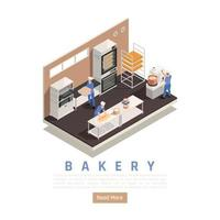 Bakery Confectionery Isometric Composition Vector Illustration
