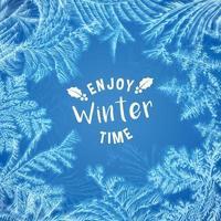Hoarfrost Winter Wishes Frame Vector Illustration